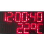 Светодиодные часы, термометр